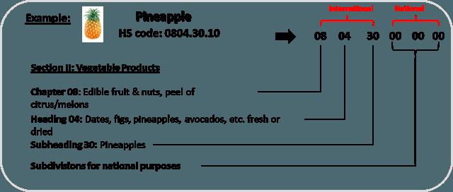 تعرفه آناناس در واردات و صادرات کالا pineapple hs